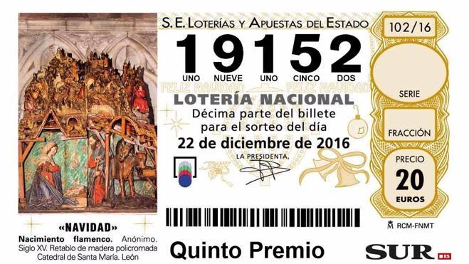 Otro quinto premio deja 30.000 euros en Málaga capital, Torre del Mar, Fuengirola y San Pedro