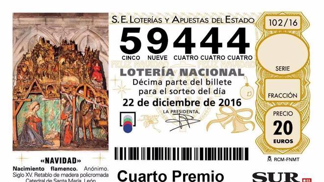 Un cuarto premio deja un décimo premiado en Málaga capital