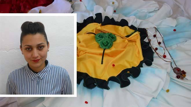 La malagueña Ana Castellano, finalista en el certamen de moda flamenca 'Emprende Lunares'