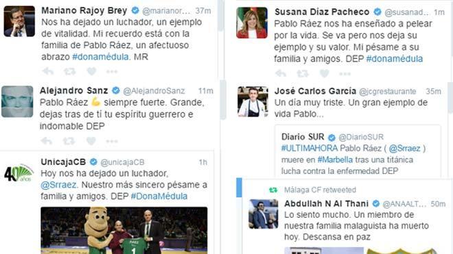 Continúan las alabanzas y los mensajes de despedida para Pablo Ráez en las redes sociales