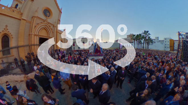 Fotos y vídeos 360º de la Semana Santa de Málaga 2017