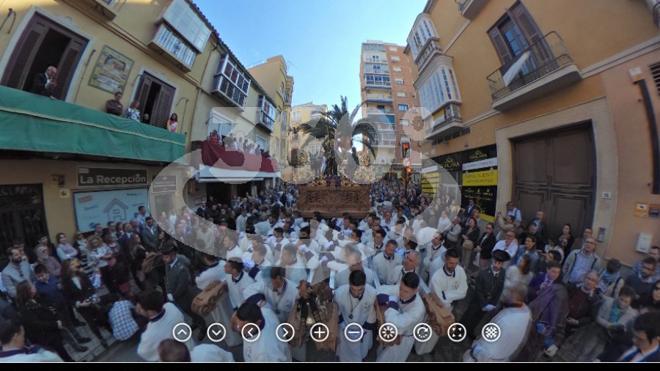 Foto 360.º de la Pollinica en procesión el Domingo de Ramos
